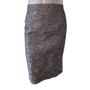 Mario Serrani Silver Textured Pencil Skirt 12